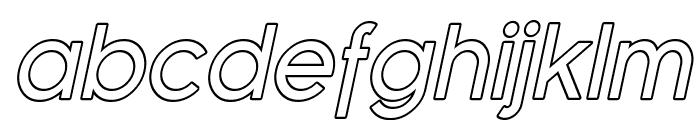Florencesans Outline Italic Font LOWERCASE