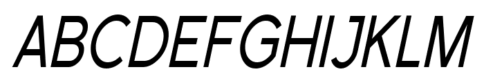 Florencesans SC Cond Italic Font UPPERCASE