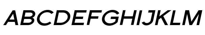 Florencesans SC Exp Bold Italic Font UPPERCASE