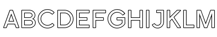 Florencesans SC Outline Font LOWERCASE
