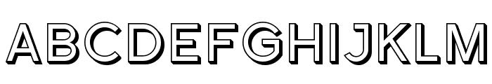 Florencesans SC Shaded Font UPPERCASE
