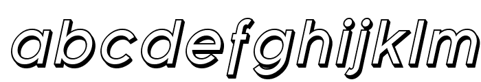 Florencesans Shaded Italic Font LOWERCASE