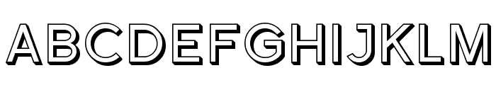 Florencesans Shaded Font UPPERCASE
