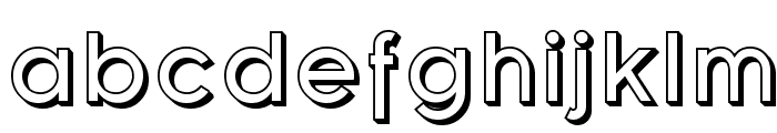 Florencesans Shaded Font LOWERCASE