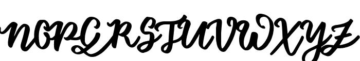 Floret Sample Font UPPERCASE