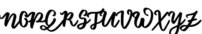 FloretSample Font UPPERCASE