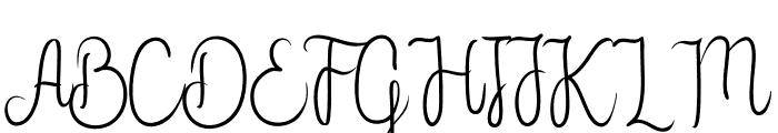 Flower Adaline Font UPPERCASE