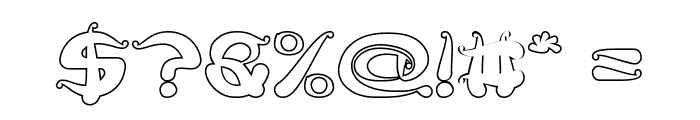 Flower Lover-Hollow Font OTHER CHARS