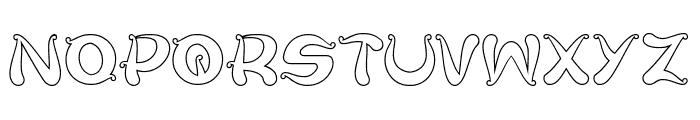 Flower Lover-Hollow Font UPPERCASE