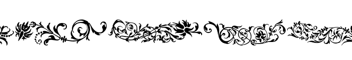Flower Ornaments Font LOWERCASE