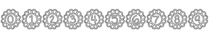 Flower Power Hollow Font OTHER CHARS