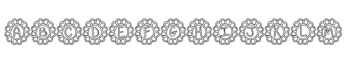 Flower Power Hollow Font LOWERCASE