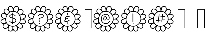 Flower Power Thin Font OTHER CHARS
