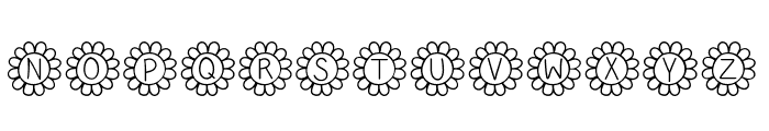 Flower Power Thin Font UPPERCASE