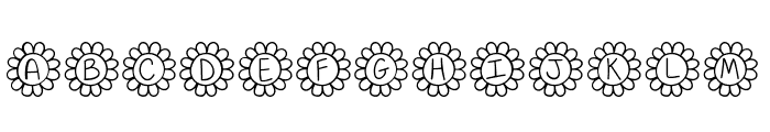 Flower Power Thin Font LOWERCASE