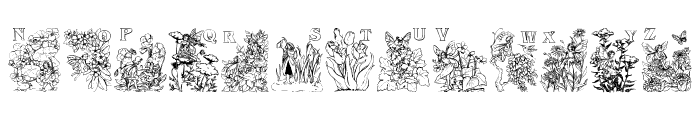 Flower and Fairy Alphabet Font LOWERCASE