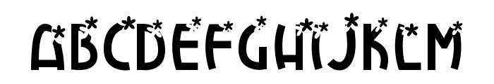 FlowerExplosion Font LOWERCASE