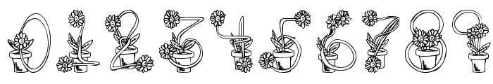 FlowerSketches Font OTHER CHARS