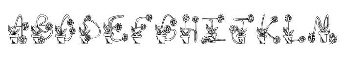 FlowerSketches Font UPPERCASE