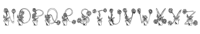 FlowerSketches Font LOWERCASE