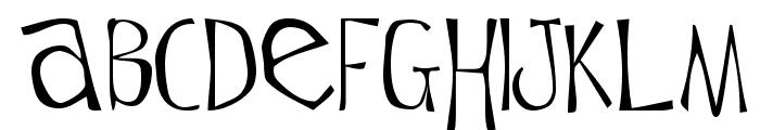 Flowerchild Plain Font LOWERCASE