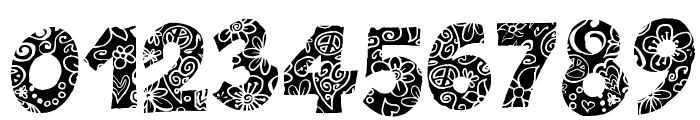 Flowers Power Nega Font OTHER CHARS