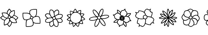 Flowers St Font UPPERCASE
