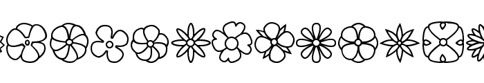 Flowers dots bats tfb Font UPPERCASE
