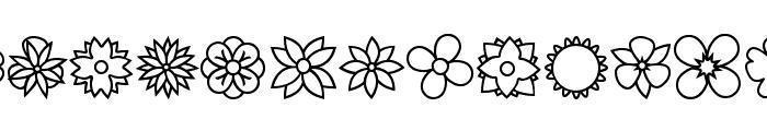 Flowers dots bats tfb Font LOWERCASE