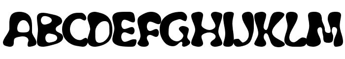 Flubber Font UPPERCASE