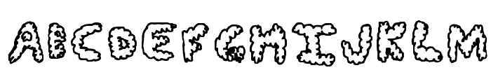 Fluffy Clouds Font UPPERCASE