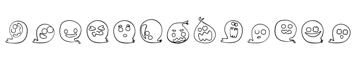 Fluffy Ghost Ding Font UPPERCASE