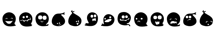 Fluffy Ghost Ding Font LOWERCASE