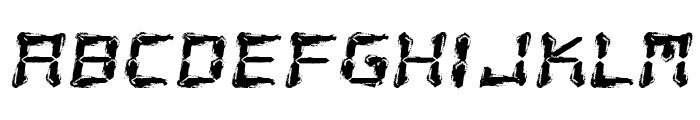 Fluid LCD Font LOWERCASE