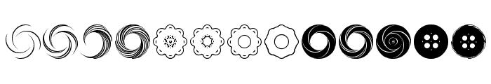 Fluid Spiral Font UPPERCASE