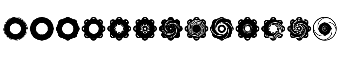 Fluid Spiral Font LOWERCASE