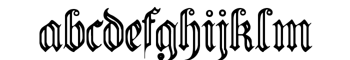 FlutedGermanica Font LOWERCASE