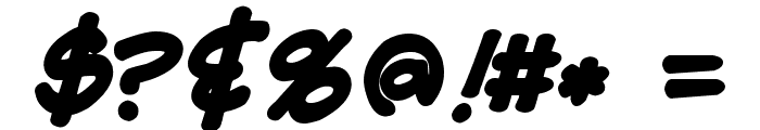Flux Architect Bold Italic Font OTHER CHARS