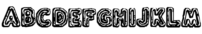 Flux Capacitor Font UPPERCASE