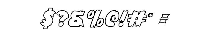 Flying Leatherneck Outline Font OTHER CHARS