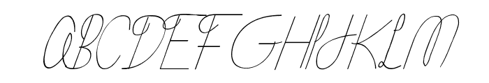 Flying Without Wings Font UPPERCASE