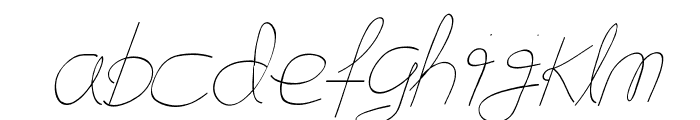 Flying Without Wings Font LOWERCASE
