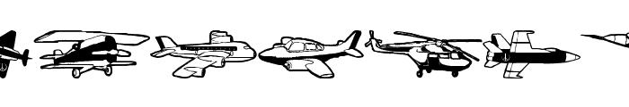 FlyingHistory Font UPPERCASE