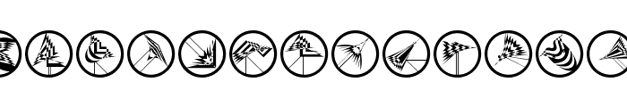 FlyingOpArts Font UPPERCASE