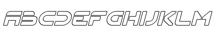 Flynn Hollow Italic Font UPPERCASE