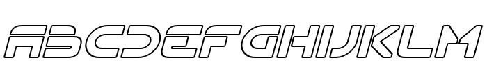 Flynn Hollow Italic Font LOWERCASE