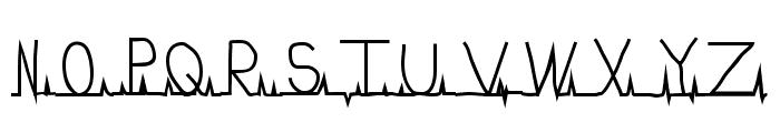 flatline Font UPPERCASE
