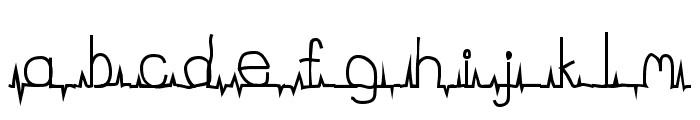 flatline Font LOWERCASE