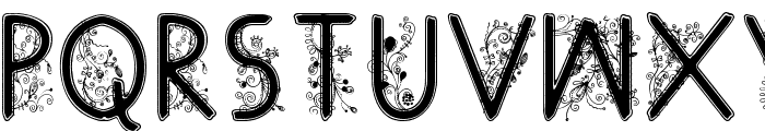 floral flower Font LOWERCASE