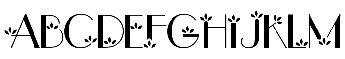 flower1 Font UPPERCASE